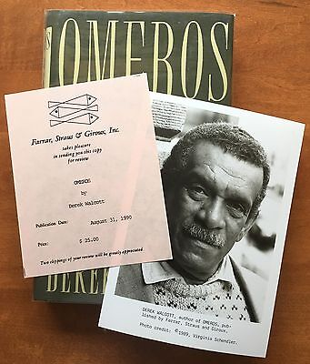 Omeros By Derek Walcott   First Edition   1990   Advance Review Copy