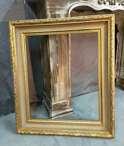 Cadre contemporain de style louis xv en bois et stuc dore 50 x 60cm ebay for Cadre contemporain