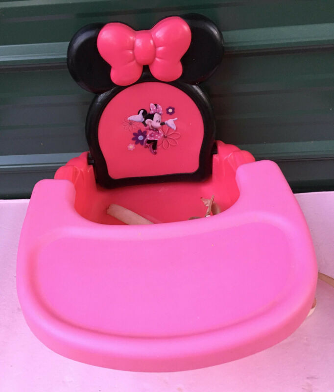 Disney Minnie Mouse Booster Seat & Tray table meal feeding chair 2012