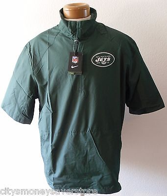 NWT Nike New York Jets Mens Hot Sideline S/S Pullover Jacket XL Green MSRP$70 - Green Pullover Hot Jacket
