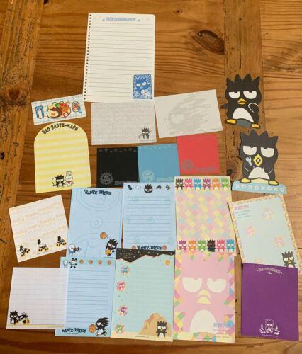 Sanrio BADTZ MARU Stationery / Stationary LOT MEMO note paper 20 Sheets