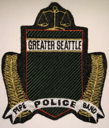 Greater Seattle Washington Police Pipe Band Patch // FREE US SHIPPING!