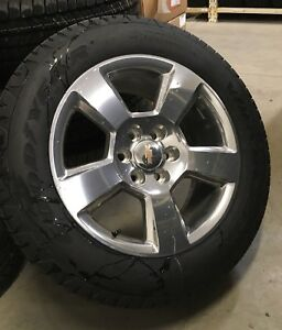 "New take off 20"" GM Chev Silverado wheel set"