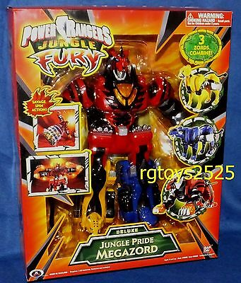 Power rangers jungle fury megazordebay power rangers jungle fury deluxe jungle pride megazord new factory sealed 2007 voltagebd Image collections