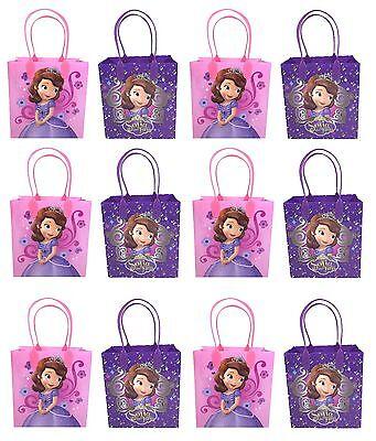 12PCS  Disney Princess Sofia The First Goodie bags Party Favor Bags Gift (Sofia The First Favor Bags)
