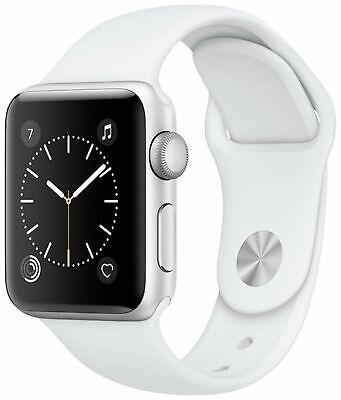 Apple Watch S1 42mm Silver Aluminium Case White Sport Band