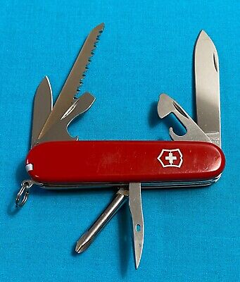 Victorinox Swiss Army Pocket Knife - Red Hiker - Camping Multi Tool