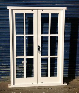 Bespoke hardwood georgian style french doors made to for Hardwood french doors