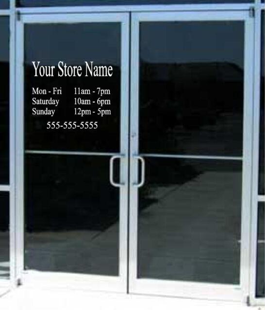 Custom Business Hours Sign Vinyl Decal Sticker X  Window Door - Vinyl stickers for glass doors