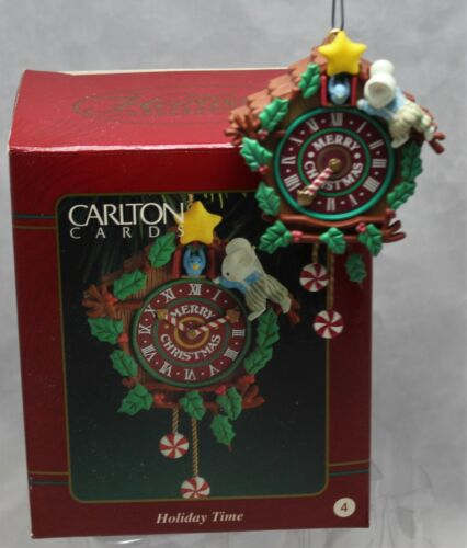 Carlton Cards Heirloom Collection Cuckoo Clock w/ Mouse & Bluebird Holiday Time