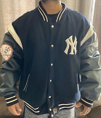 Yankees Reversible Jacket  MLB NY New York Navy by JH Design  sz XL