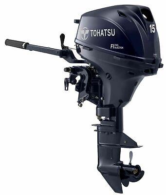 15HP EFi TOHATSU MFS15E Short Shaft Tiller Fuel Injected 4 Stroke Outboard 43Kg!