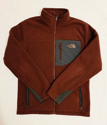 The North Face - Mens Fleece Jacket Full Zip Small Maroon