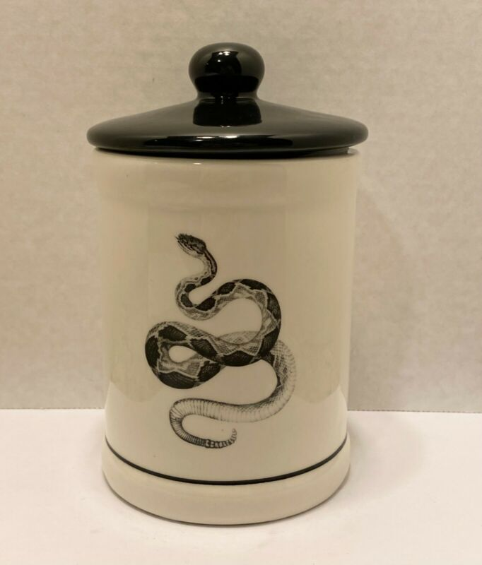 Rattlesnake Snake Cookie Stash Treat Apothecary Candy Jar Snakes