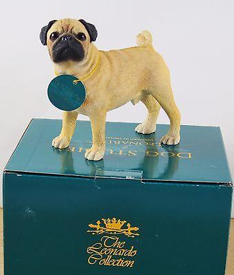 Pug Ornament Dog Gift Figure Statue Figurine Present Dogs Leonardo