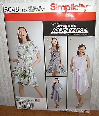 Womens/Misses & Petite Dresses Sewing Pattern/Simplicity 8048/SZ 14-22/UCN