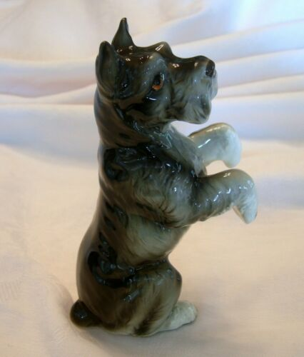 Vintage NORCROSS SCHNAUZER Dog Figurine Porcelain Japan