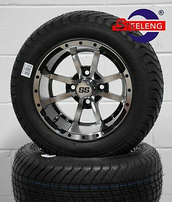 "GOLF CART 12"" STORM TROOPER WHEELS and 215/50-12 COMFORT RIDE DOT TIRES"