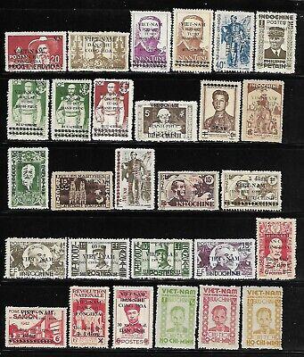 Vietnam - Indochina/Viet Minh 28 Different MNH