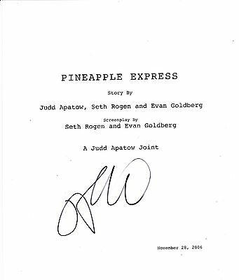 James Franco Signed Pineapple Express Full 116 Page Script Screenplay Coa