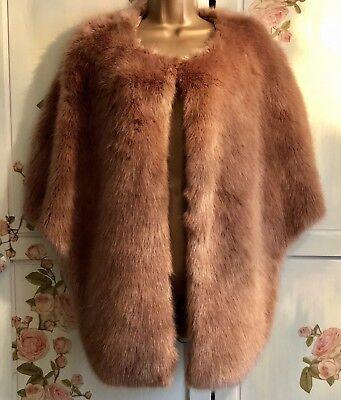 Jayley Faux Fur Cape