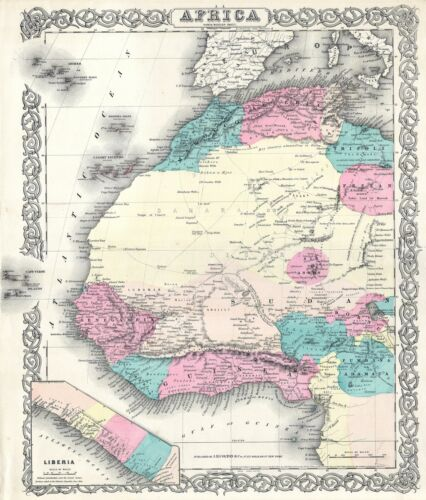 1855 Colton Map of Western Africa