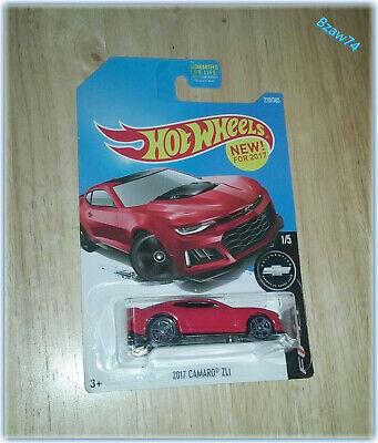 2017 Hot Wheels, 2017 Chevy Camaro ZL1 (#220/365) Camaro Fifty (#1/5) Red
