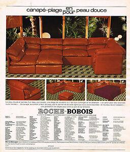 Publicite advertising 045 1976 roche bobois canap plage for Ebay canape roche bobois