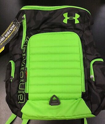 Under Armour UA VX2 Undeniable Storm Backpack Neon Green Black Basketball Curry
