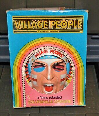 1970s The Village People vintage Collegeville costume mask NEW unused Ben Cooper