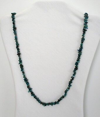 """Chrysocolla Natural Small Chip Stones Beads Strand Necklace 32"""" Long.  NWT  CCSL Chrysocolla Long Necklace"""