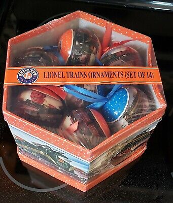 Lionel Trains Christmas Ornament Gift Box -14 Piece Set New In Box