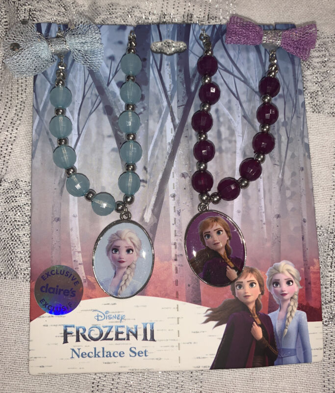 Disney Frozen II Anna Elsa Bff Best Friend Sisters Princess Necklace Jewelry Set