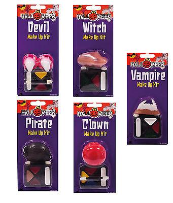 Make up + Hörner, Nase, Zähne Dracula, Hexe, Teufel, Pirat  Fasching Halloween  - Halloween Make Hexe