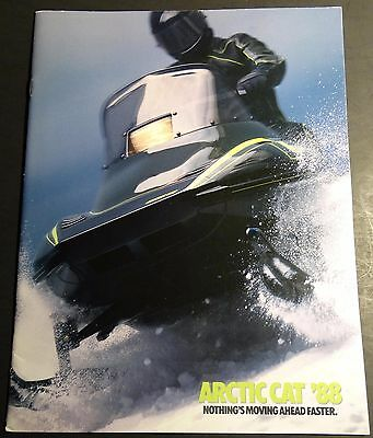1988 ARCTIC CAT FULL LINE SNOWMOBILE SALES BROCHURE 30 PAGES NICE  (264)
