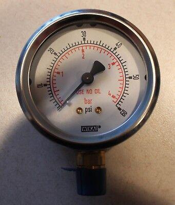 Wika Pressure Gauge 2.5  60 Psibar Cleaned To Asme B40.1 Level Iv