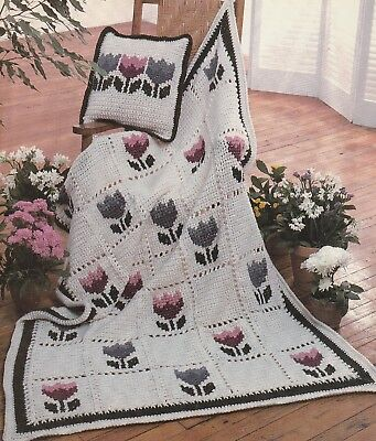Шаблоны Crochet Pattern ~ Tulip Patch