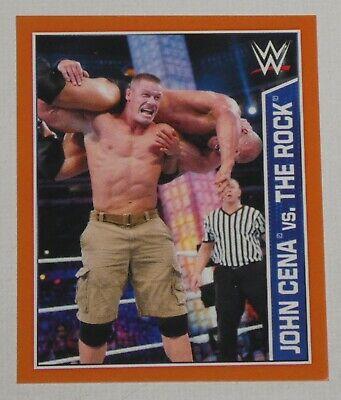 John Cena vs The Rock 2015 Topps WWE Album Stickers Card #101 Wrestlemania 28