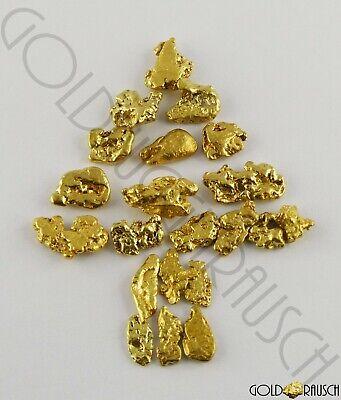 10 Goldnuggets aus Alaska Yukon direkt vom Schürfer GN25S10X1 Münze Barren Gold