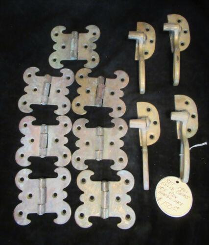 Antique Ice Box Brass Hardware HInges & Handles 1901