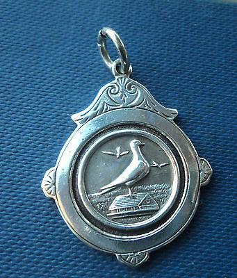Vintage Serling Silver Fob Medal  - Racing Pigeon h/m 1926 Birmingham