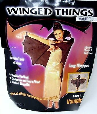 Halloween Costume Mario Chiodo Winged Things Vampire Wings Adult One Size NEW