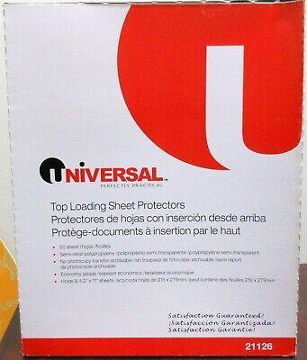 Universal 3-hole Top Loading Sheet Protectors Economy Gauge 100cnt 21126 2x50