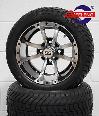 """GOLF CART 12"""" STORM TROOPER WHEELS and 215/40-12 DOT LOW PROFILE TIRES (4)"""