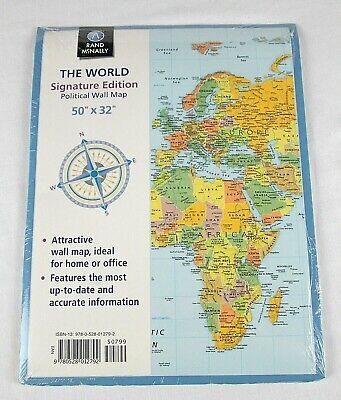 Rand McNally - The World - Signature Edition - Political Wall Map - 50