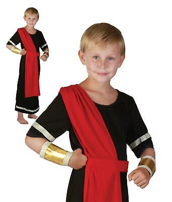Boys Caesar Costume Roma Toga Kids Fancy Dress Book Week Outfit