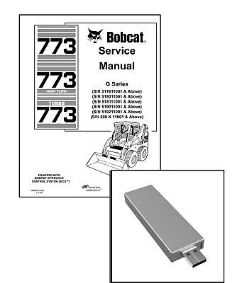 Bobcat 773 G-series Highflow Turbo Workshop Service Manual Usb Stick Download