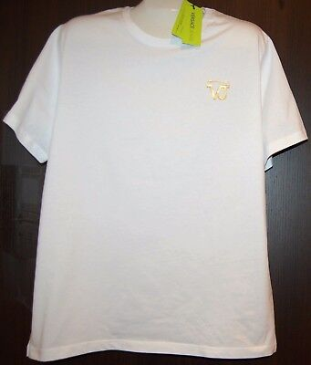 Versace White  Men's Cotton Shirt T-Shirt Size XXXL NEW