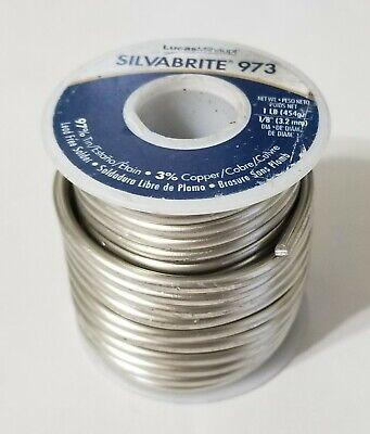 1lb Silvabrite 973 Lead Free Solder 18 97 Tin 3 Copper Lucas Milhaupt 52154