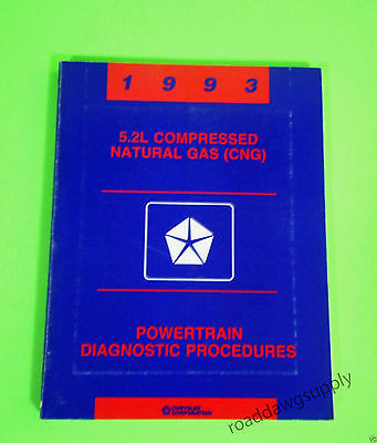 - 1993 Chrysler Dodge Van 5.2L Natural Gas CNG Diagnostic Service Shop Manual